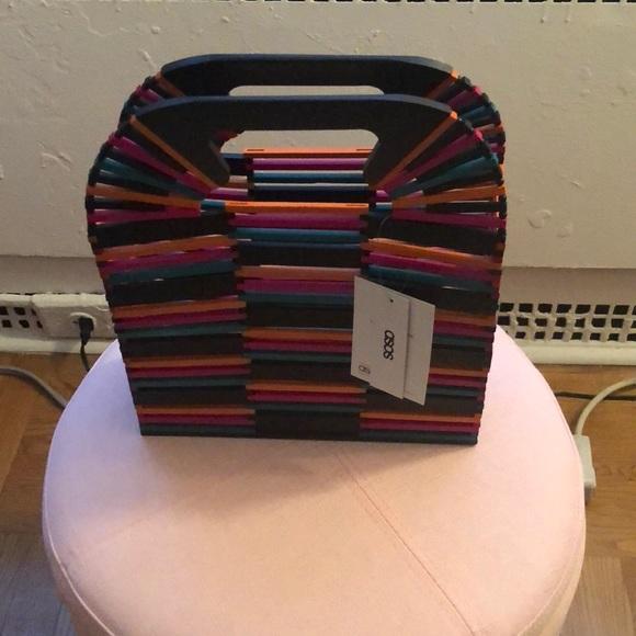 ASOS Handbags - Multicolor wooden bag